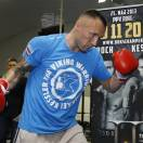 Mikkel Kessler of Denmark trains during a media opportunity in London, Tuesday, May 21, 2013. Mikkel Kessler will fight against Carl Froch in a super-middleweight match on May 25 in London. (AP Photo/Kirsty Wigglesworth)