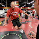 Ottawa Senators' Craig Anderson takes part in testing during the opening day of the NHL hockey training camp in Ottawa on Thursday, Sept. 18, 2014 The Associated Press