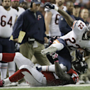 Atlanta Falcons inside linebacker Joplo Bartu (59) makes the tackle on Chicago Bears running back Matt Forte (22) during the first half of an NFL football game, Sunday, Oct. 12, 2014, in Atlanta The Associated Press