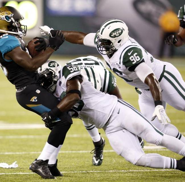 Sanchez has 5 scoring drives, Jets top Jags 37-13