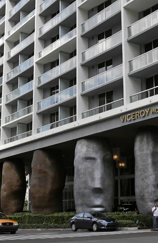 The Viceroy Miami stands in downtown Miami, Thursday, April 10, 2014. Miami police officials said Thursday they are investigating a woman's report that she blacked out after drinking and smoking marijuana in an apartment in the company of 49ers quarterback Colin Kaepernick and two other football players. According to a police incident report, the woman said that at about 9 p.m. on April 1 she visited Seattle Seahawks wide receiver Ricardo Lockette, 27, at an apartment within the Viceroy, a luxury hotel that has guest rooms, suites and residences. No one has been charged with a crime, authorities said