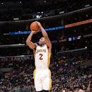 LOS ANGELES, CA - NOVEMBER 9: Wayne Ellington #2 of the Los Angeles Lakers shoots against the Charlotte Hornets on November 9, 2014 at Staples Center in Los Angeles, California. (Photo by Andrew D. Bernstein/NBAE via Getty Images)