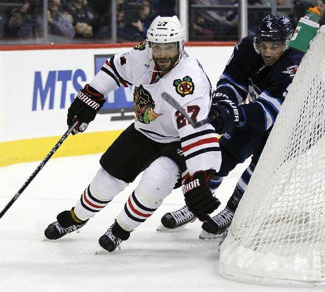 Hossa scores in Blackhawks' 6-3 win over Jets