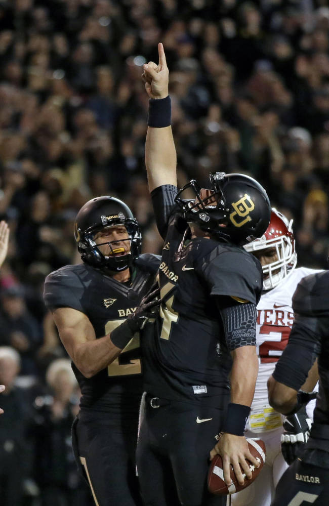 No. 5 Baylor beats No. 12 Oklahoma 41-12