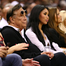 (2nd L) Team owner Donald Sterling of the Los Angeles Clippers watches the San Antonio Spurs play against the Memphis Grizzlies during Game One of the Western Conference Finals of the 2013 NBA Playoffs at AT&T Center on May 19, 2013 in San Antonio, Texas. (Photo by Ronald Martinez/Getty Images)