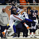 Dallas Cowboys cornerback Brandon Carr (39) breaks up a pass intended for Chicago Bears wide receiver Alshon Jeffery (17) during the first half of an NFL football game Thursday, Dec. 4, 2014, in Chicago The Associated Press