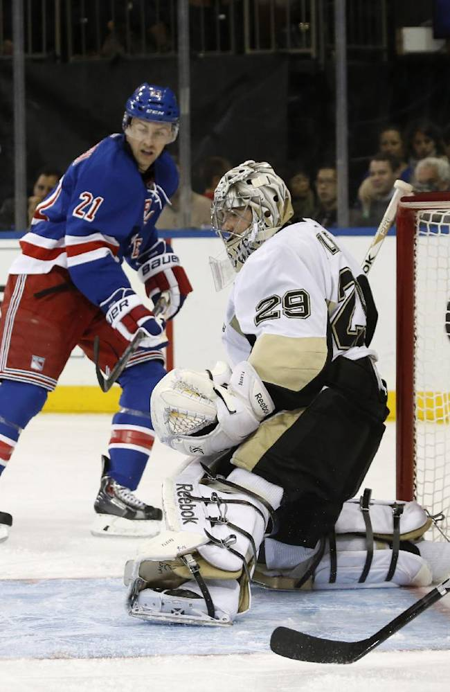 Rangers shake off slow start, top Penguins 5-1