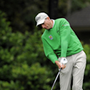 Jim Furyk tees off on the seventh hole during the second round of the RBC Heritage golf tournament in Hilton Head Island, S.C., Saturday, April 19, 2014. Play was suspended during the second round Friday due to weather and resumed today. (AP Photo/Stephen B. Morton)