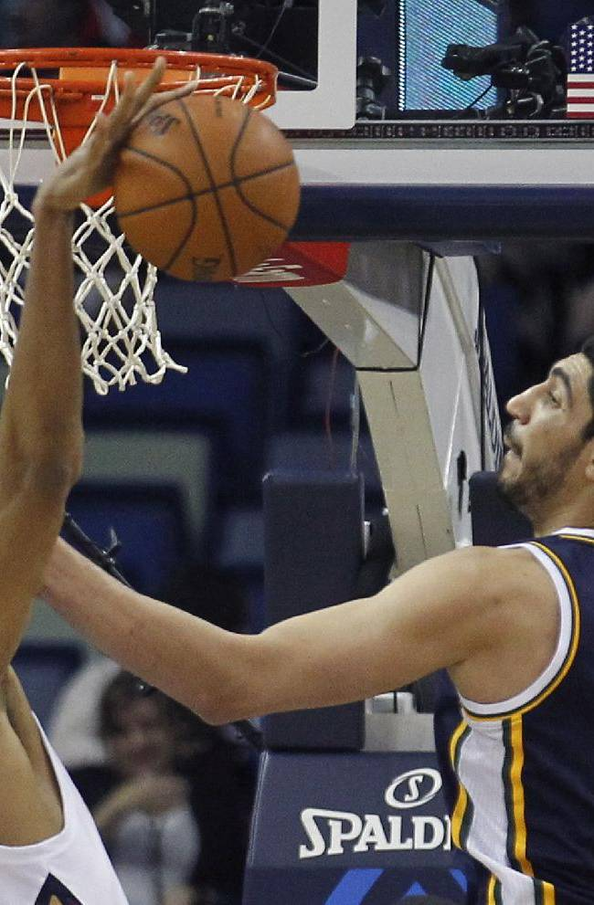 Evans leads Pelicans over Jazz 102-95