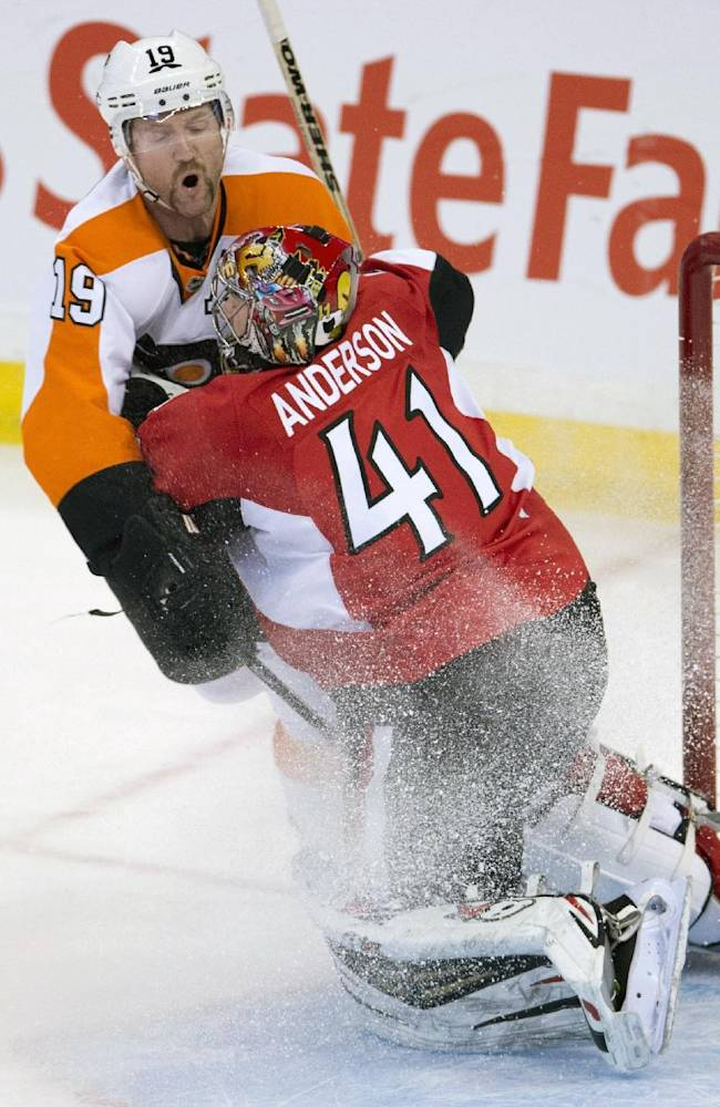 Flyers shut out Senators 5-0