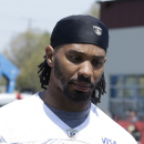 FILE - This June 4, 2013, file photo shows then-San Francisco 49ers safety C.J. Spillman at an NFL football training camp in Santa Clara, Calif. Dallas Cowboys special teams player C.J. Spillman is under investigation but hasn't been arrested or charged after a report of an alleged sexual assault at the team hotel last month. Grapevine police spokesman Sgt. Robert Eberling said Wednesday night, Oct. 1, 2014, that the alleged assault took place early Sept. 20 at the Gaylord Texan Resort and Convention Center. The Cowboys signed the 28-year-old Spillman on Sept. 1, two days after the sixth-year player was among the final cuts by San Francisco. (AP Photo/Jeff Chiu, File)