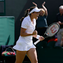 Laura Robson of Britain celebrates after beating Marina Erakovic of New Zealand during their Women's singles match at the All England Lawn Tennis Championships in Wimbledon, London, Saturday, June 29, 2013. (AP Photo/Kirsty Wigglesworth)