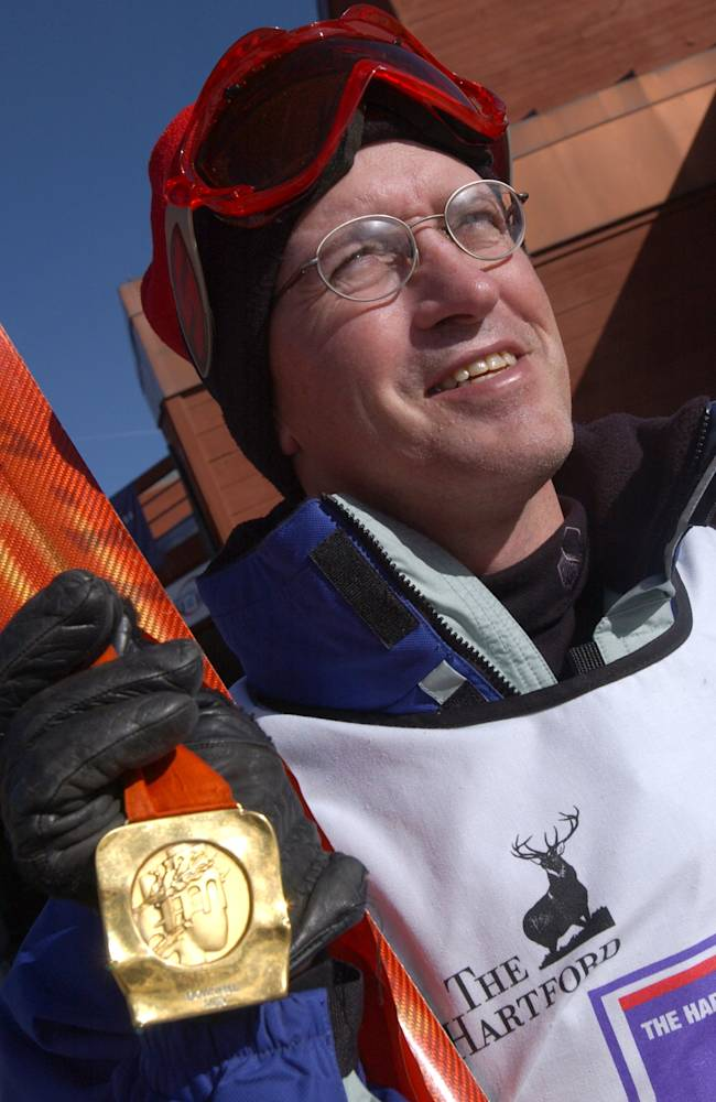 Olympic champ Bill Johnson receives pick-me-up from ski team