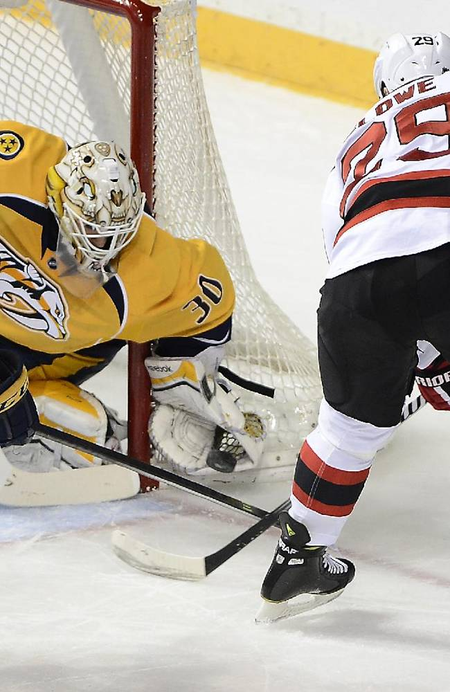 Weber scores 2 as Predators beat Devils 3-2 in OT