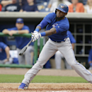 Toronto Blue Jays shortstop Jose Reyes grounds out during the second inning of an exhibition baseball game against the Philadelphia Phillies Wednesday, Feb. 26, 2014, in Clearwater, Fla The Associated Press