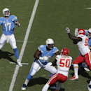 San Diego Chargers quarterback Philip Rivers (17) throws a pass against the Kansas City Chiefs during the first half in an NFL football game Sunday, Oct. 19, 2014, in San Diego The Associated Press