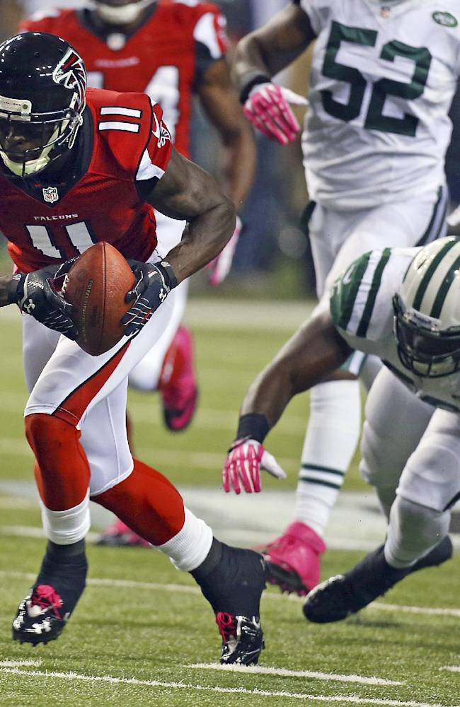 Falcons say star WR Julio Jones is lost for season