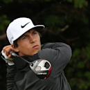 Thorbjorn Olesen of Denmark plays a shot off the 18th tee during a practice round ahead of the British Open Golf championship at the Royal Liverpool golf club, Hoylake, England, Wednesday July 16, 2014. The British Open Golf championship starts Thursday July 17. (AP Photo/Scott Heppell)