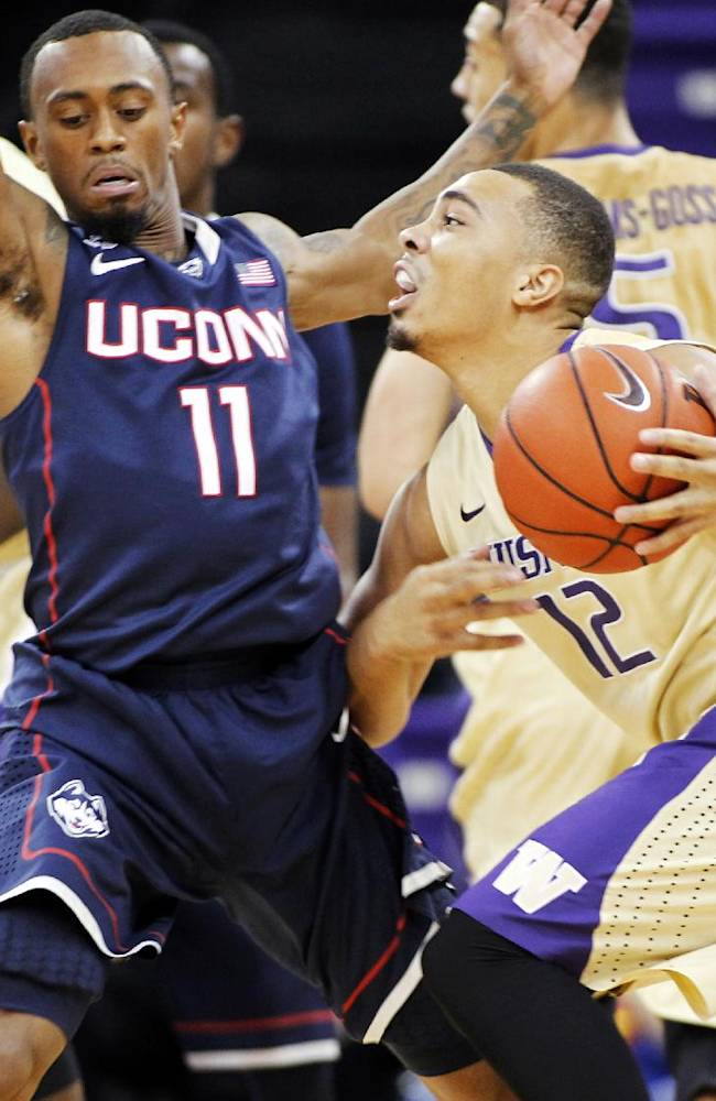 No. 10 UConn beats Washington 82-70