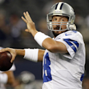 In this Sunday Dec. 2, 2012 file photo, Dallas Cowboys quarterback Kyle Orton (18) passes the ball before an NFL football game against the Philadelphia Eagles in Arlington, Texas. The Dallas Cowboys are releasing Kyle Orton after their backup quarterback