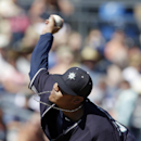 Seattle Mariners starting pitcher Felix Hernandez throws during the first inning of an exhibition spring training baseball game against the Texas Rangers, Sunday, March 9, 2014, in Peoria, Ariz The Associated Press