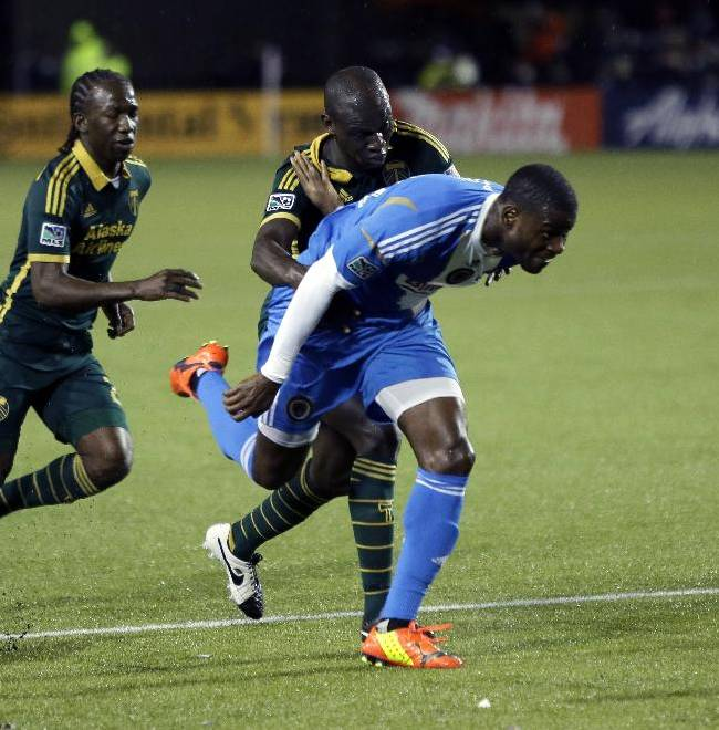 Timbers rally to tie Union 1-1