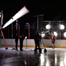 Ottawa Senators' Marc Methot takes part in a video shoot during the opening day of the NHL hockey training camp in Ottawa on Thursday, Sept. 18, 2014 The Associated Press