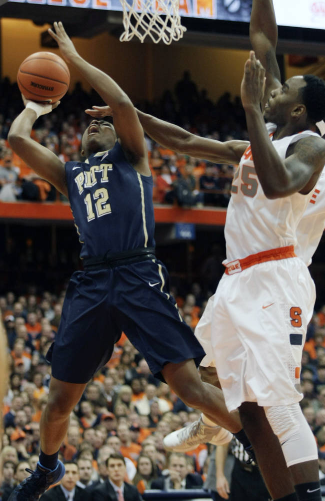 No. 2 Syracuse holds off No. 22 Pitt 59-54