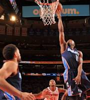 NEW YORK, NY - NOVEMBER 5: Kemba Walker #15 of the Charlotte Bobcats drives to the basket against the New York Knicks on November 5, 2013 at Madison Square Garden in New York City, New York. (Photo by Jesse D. Garrabrant/NBAE via Getty Images)