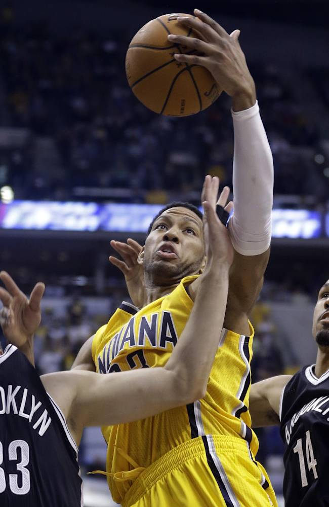 George, Hibbert help Pacers hold off Nets 97-96