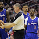 Los Angeles Clippers guard Chris Paul (3) is charged with a technical foul during the fourth quarter of an NBA basketball game, Saturday, March 29, 2013, in Houston. The Clippers defeated the Rockets 118-107 The Associated Press