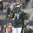 Philadelphia Eagles tackle Jason Peters (71) stands on the field during the first half of an NFL football game, Sunday, Dec. 29, 2013, in Arlington, Texas The Associated Press