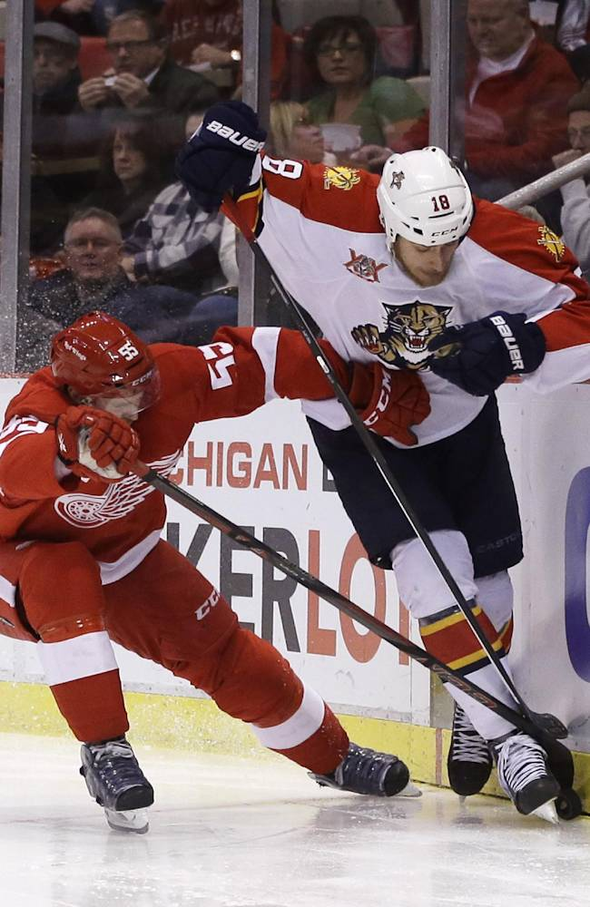Panthers beat Red Wings 5-4 in SO