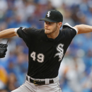 Chicago White Sox starting pitcher Chris Sale delivers against the Chicago Cubs during the sixth inning of a baseball game in Chicago, Saturday, July 11, 2015. (AP Photo/Andrew A. Nelles)