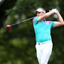 PGA golfer Ian Poulter tees off on the 2nd hole during the second round of the 2014 PGA Championship golf tournament at Valhalla Golf Club. Mandatory Credit: Brian Spurlock-USA TODAY Sports