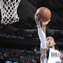 DALLAS, TX - APRIL 26: Monta Ellis #11 of the Dallas Mavericks goes in for the lay up against the Houston Rockets during Game Four of the Western Conference Quarterfinals of the 2015 NBA Playoffs on April 26, 2015 at the American Airlines Center in Dallas, Texas. (Photo by Glenn James/NBAE via Getty Images)