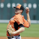 Baltimore Orioles starting pitcher Chris Tillman throws during the first inning of a spring exhibition baseball game against the Pittsburgh Pirates in Bradenton, Fla., Monday, March 10, 2014 The Associated Press