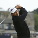 Retief Goosen of South Africa watches his tee shot on the second hole during the final round of the British Open golf championship on the Old Course in St. Andrews, Scotland, July 20, 2015.   REUTERS/Phil Noble