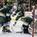 Dubnyk, Wild beat Blues 6-3 The Associated Press