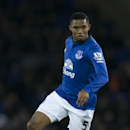 Everton's Samuel Eto'o takes the ball downfield during the English Premier League soccer match between Everton and Queens Park Rangers at Goodison Park Stadium, Liverpool, England, Monday Dec. 15, 2014