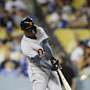 Detroit Tigers' Austin Jackson hits a home run during the second inning of a baseball game against the Los Angeles Dodgers in Los Angeles, Tuesday, April 8, 2014 The Associated Press