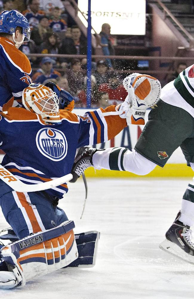 Kuemper has 21 saves in Wild's 3-0 win over Oilers