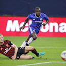 IMAGE DISTRIBUTED FOR INTERNATIONAL CHAMPIONS CUP - Victor Moses, center, eyes the ball during the International Champions Cup soccer match between Chelsea FC and AC Milan on Wednesday, Aug. 3, 2016 at US Bank Stadium in Minneapolis. (Andy Clayton-King/AP
