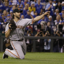 Bumgarner, Pence helps Giants lead Royals 5-0 The Associated Press