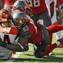 Tampa Bay Buccaneers defensive tackle Gerald McCoy (93) sacks Cincinnati Bengals quarterback Andy Dalton (14) during the first quarter of an NFL football game Sunday, Nov. 30, 2014, in Tampa, Fla The Associated Press