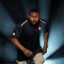 New Orleans Saints' Mark Ingram is introduced during the NFL Football Pro Bowl draft Wednesday, Jan. 21, 2015, in Phoenix The Associated Press