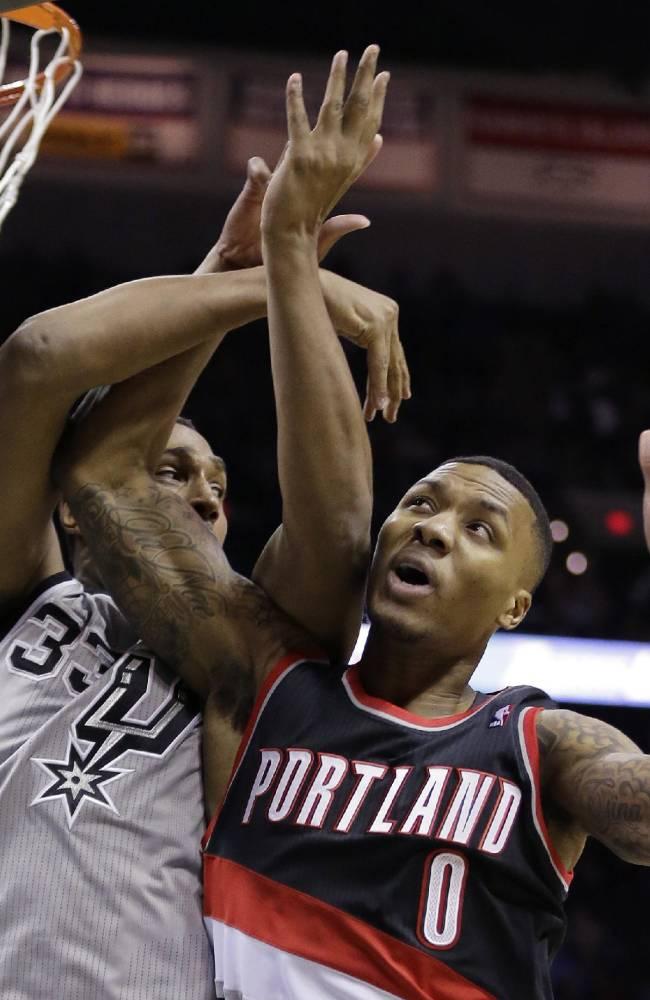 Aldridge, Matthews lead Trail Blazers past Spurs
