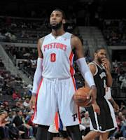 AUBURN HILLS, MI - DECEMBER 13: Andre Drummond #0 of the Detroit Pistons stands on the court against the Brooklyn Nets on December 13, 2013 at The Palace of Auburn Hills in Auburn Hills, Michigan. (Photo by Allen Einstein/NBAE via Getty Images)