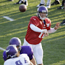 Minnesota Vikings quarterback Matt Cassel throws a pass during an NFL football training camp practice, Monday, July 28, 2014, in Mankato, Minn The Associated Press