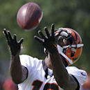 Cincinnati Bengals wide receiver A.J. Green catches a long pass during the NFL football team's practice at training camp, Friday, July 25, 2014, in Cincinnati. (AP Photo) The Associated Press